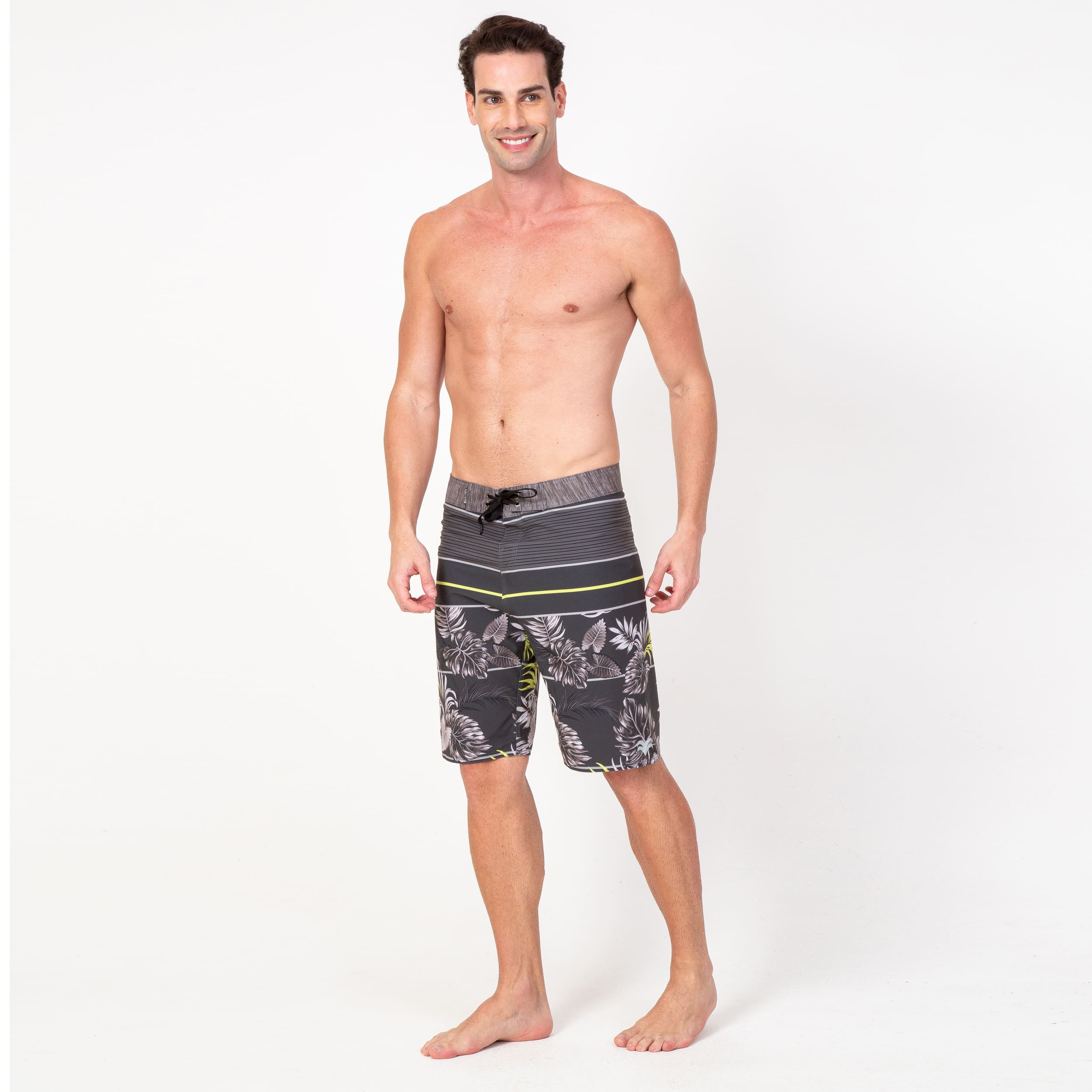 Bermuda Boardshort Elastano Tropical Dark Green