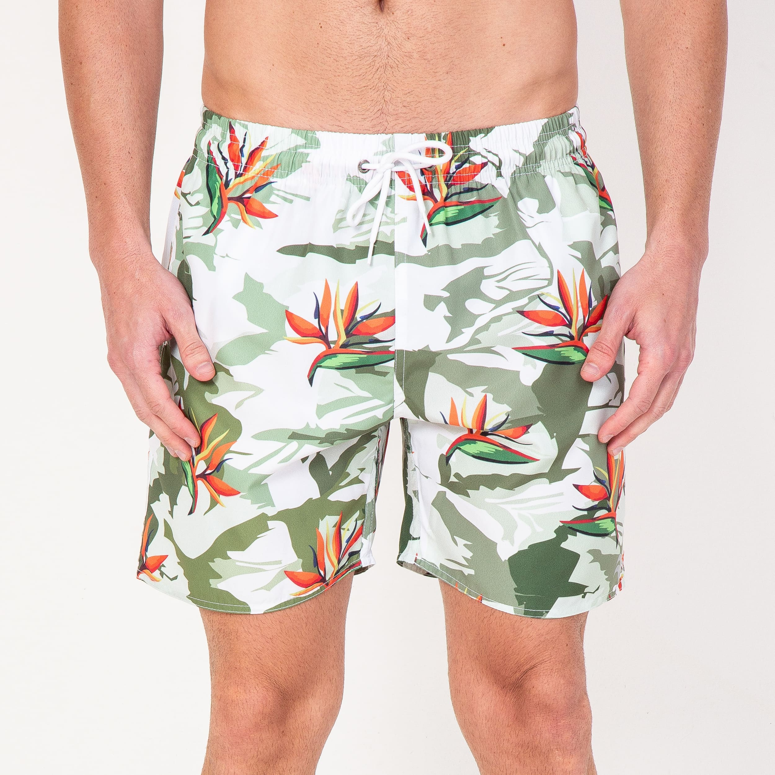 Short Camuflage Green Flowers