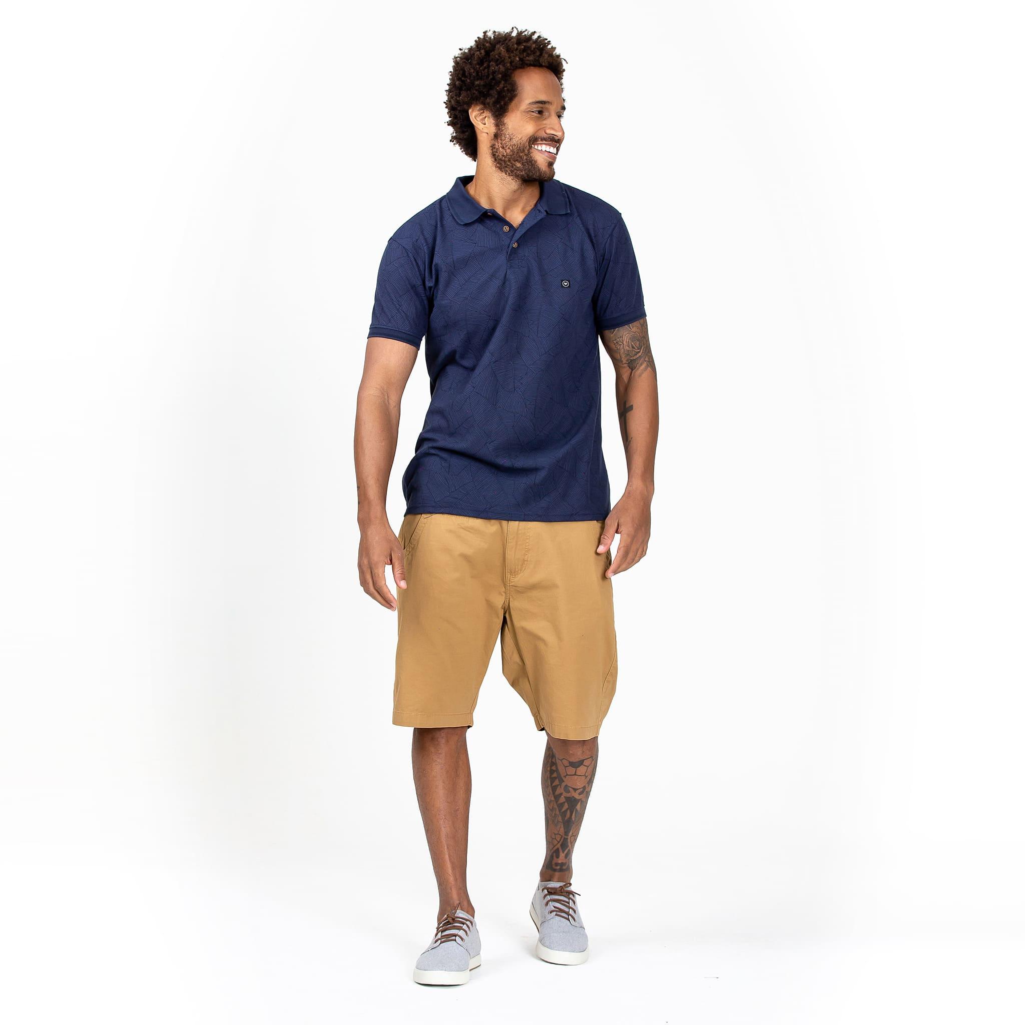 Camisa Polo Palm Azul