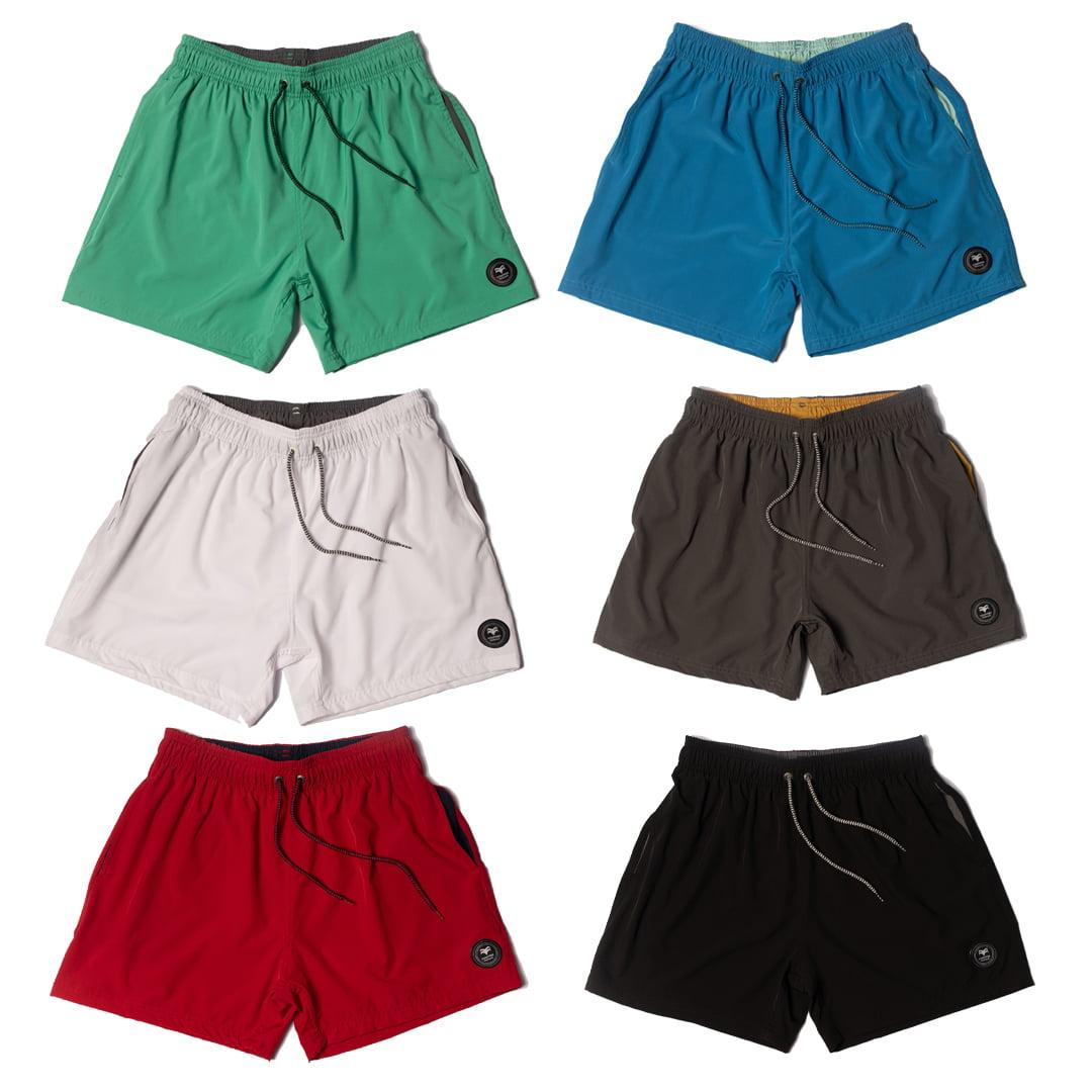 kit 6 Shorts Masculino Lisos de Elastano