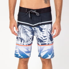 Bermuda Boardshort  Stripes Palm White