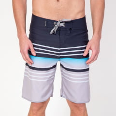 Bermuda Boardshort Blue Horizontal Stripes