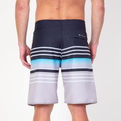 Bermuda Boardshort Blue Horizontal Stripes