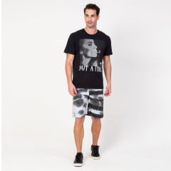 Bermuda Boardshort Elastano Abstract Black