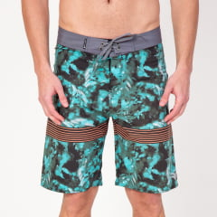 Bermuda Boardshort Elastano Abstract Leaves