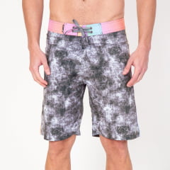 Bermuda Boardshort Elastano Abstrata Colorida