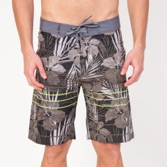 Bermuda Boardshort Elastano Flower Stripes