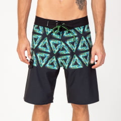 Bermuda Boardshort Elastano Flowers Triangles