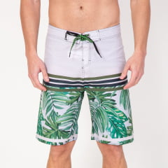Bermuda Boardshort Stripes Flowers and Palm
