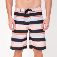 Bermuda Boardshort Stripes Orange Textures