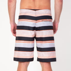 Bermuda Boardshort Stripes Orange Textures