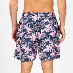 Short Elastano Pink Flowers