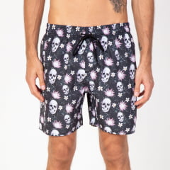 Short Skull and Flowers