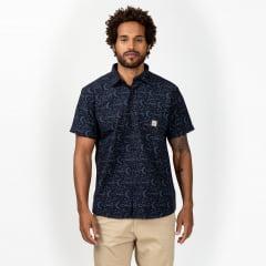 Camisa Manga Curta Azul Surfly