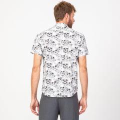 Camisa Manga Curta Skull Base White