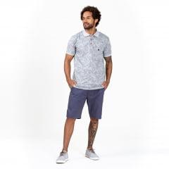 Camisa Polo Folhagens Mescla