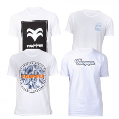 Kit 4 T-shirts Escolha As Cores
